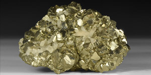 Natural History - Pyrite with Quartz Mineral Specimen