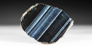 Natural History - Polished Blue Tigers Eye Section