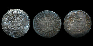 Tutbury 1831 Hoard - Edward I and II (3) - Durham Royal, Beaumont and Bec