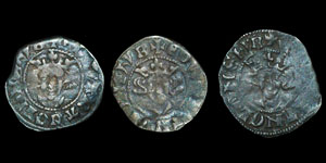 Tutbury 1831 Hoard - Edward II (3) - Durham Royal (2) and Kellawe