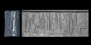Western Asiatic Cappadocian Cylinder Seal with Gods