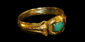 Tudor - Gold Ring - Turquoise