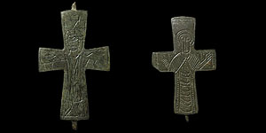 Byzantine - Two Bronze Reliquary Crosses