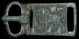 Byzantine - Bronze Hinged Zoomorphic Plate Buckle