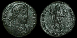 Roman Empire - Rare Jovian - Libertas AE2