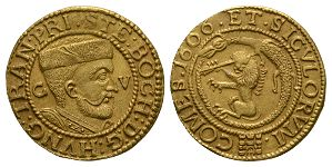 World Coins - Transylvania - Stephan Bocskai - 1606 - Gold Ducat