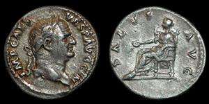 Roman Empire - Vespasian - Salus Denarius