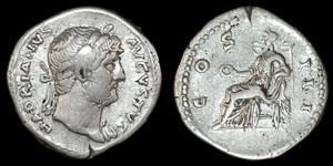 Roman Empire - Hadrian - Concordia Denarius