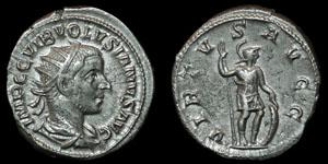 Roman Empire - Volusian - Virtus Antoninianus
