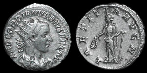 Roman Empire - Gordian III - Laetitia Antoninianus