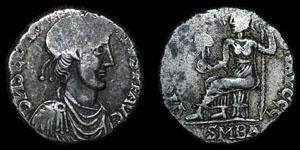 Roman Empire - Excessively Rare Maximus of Spain - Barcelona Siliqua