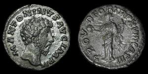 Roman Empire - Marcus Aurelius - Providentia Denarius