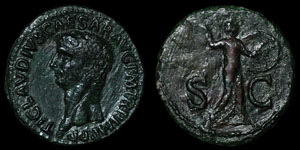 Roman Empire - Claudius - Minerva AE As