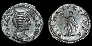 Roman Empire - Julia Domna - Diana Denarius