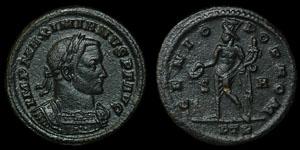 Roman Empire - Galerius - Genius AE Follis