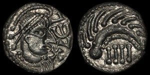 Anglo-Saxon - Very Rare Series T, Type 9 - Secondary Sceatta