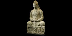 Gandharan Very Large Sitting Buddha Statue