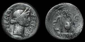 Roman Imperatorial - Julius Caesar - Ceres Denarius