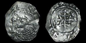 Henry I - Quadrilateral on Cross Fleury Penny - Winchester, Saier
