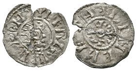 Anglo-Saxon Coins - Berhtwulf - Deneheah - Portrait Penny
