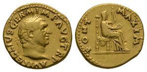 Ancient Roman Imperial Coins - Vitellius - Vesta Aureus