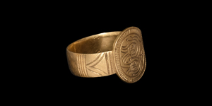 Byzantine Gold Marriage Ring with Busts