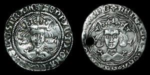 Henry VI - Annulet and Rosette/Mascle Groats - Calais, London