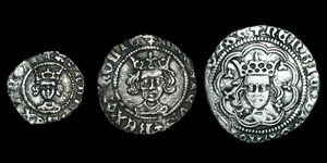 Henry VI - Rosette-Mascle Halfgroat, Penny and Halfpenny - Calais