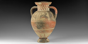 Etruscan Black Figure Ware Amphora with Sphinxes