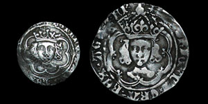 Henry VII - Facing Bust Groat and Halfgroat - London, York