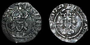 Henry VII - Facing Bust Halfpennies (2) - London, York