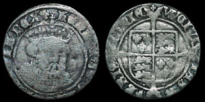 Henry VIII Posthumous - Facing Bust Groat - Bristol - Tower Dies, Bust 2