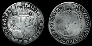Philip and Mary - Shilling - 1555