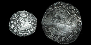 Philip and Mary - Groat and Base Penny