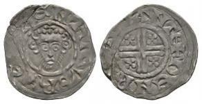English Medieval Coins - Henry III - Canterbury / Henry - Ornamented Letters Mule Short Cross Penny