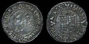 Elizabeth I - Third/Fourth Issue Sixpence - 1564