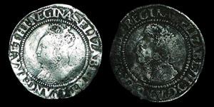 Elizabeth I - Second Issue Groats (2) - Martlet