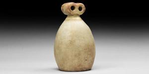 Western Asiatic Large Alabaster Eye Idol