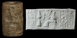 Bronze Age - Stone Figural Cylinder Seal