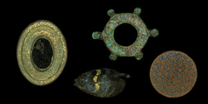 Roman - Group of Four Bronze Enamelled Brooches
