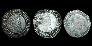 James I - Second Coinage Shillings (3) - Rose