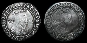 James I - First Coinage Sixpences (2) - 1603