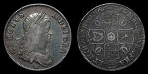 Charles II - Crown - 1662