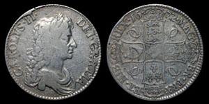 Charles II - Crown - 1672 QVARTO
