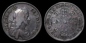 Charles II - Halfrown - 1671 TERTIO