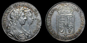William and Mary - Halfcrown - 1689
