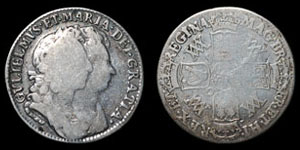 William and Mary - Shilling - 1693
