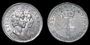 William and Mary - Groat - 1689 - GVLEELMVS variety