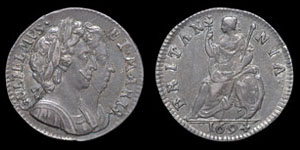 William and Mary - Proof Silver Farthing - 1694