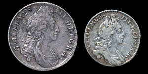 William III - Shilling and Sixpence - 1696